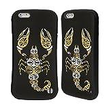Ufficiale Cat Coquillette Nero oro Scorpione Insetti Case Ibrida per Apple iPhone 6 Plus / 6s Plus