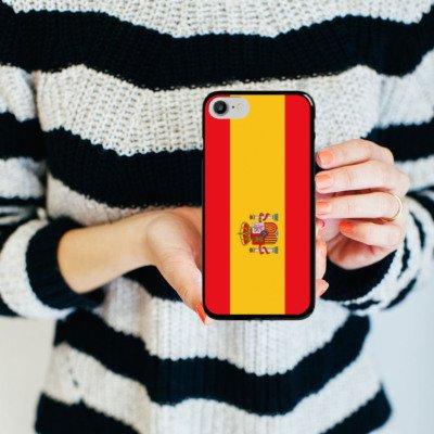 Apple iPhone X Silikon Hülle Case Schutzhülle Spanien Flagge Fußball Hard Case schwarz