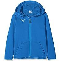 Puma Liga Casuals Hoody Jacket Chaqueta, Todo el año, Infantil, Color Electric Blue Lemonade-Puma White, tamaño 116