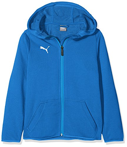 PUMA Kinder Liga Casuals Hoody Jacket Jr Jacke, Electric Blue Lemonade White, 140