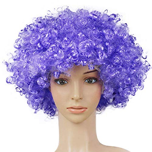 (outflower Perücke Clown Haar Perücken Kind Erwachsene Masquerade Party Haar Halloween Weihnachten Requisiten lila)