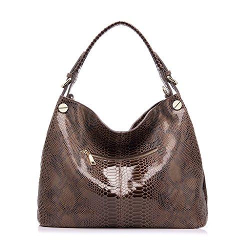 Realer Genuine Leather Formal Hobo Purses and Handbag for Women Office Shoulder Bag Cachi