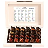 Hallingers Tea Deluxe Advent 24 - Christmas Advent Calendar WHITE | Set/Mix | 24x Miniglas in Deluxe-Box | 240g