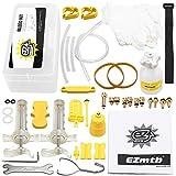 Lixada1 Lixada Fahrrad-hydraulische Scheibenbremse Entlüftungswerkzeug Entlüftungskit MTB-Rennrad-Bremsen Entlüftungskit Fahrrad Mineralöl Flüssigkeitssatz Metalladapter