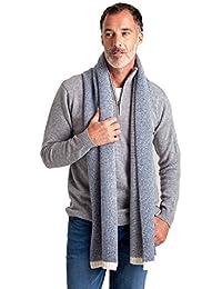 WoolOvers Echarpe bicolore - Homme - Laine d'agneau