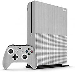 GADGETS WRAP Xbox One S Silver Titanium Skin for Console & Controller