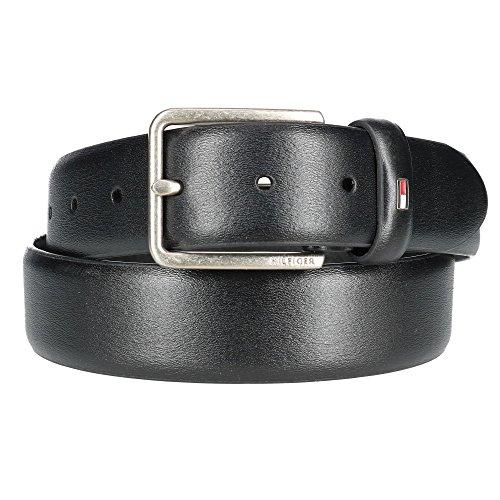 Tommy hilfiger - cintura da uomo in pelle liscia nero 85