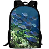 HOJJP HandtascheMost Durable Lightweight Brand New Travel Hiking Backpack Daypack - Colorful Coral Fish