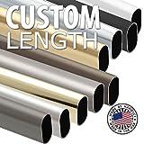 ovale Garde-robe Tube, ovale en aluminium Couleur aluminium Rod, ternes, 30mm x 15mm–Longueur sur mesure–Handyct, Aluminium, Lenght: 44 inch, Fraction: 7/8 inch
