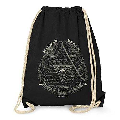 TEXLAB - Triforce Illuminati - Turnbeutel, schwarz