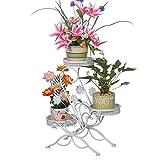 Dazone Blumenständer Blumentreppe Blumenregal Pflanzregal, 69x65x22cm (Weiß)