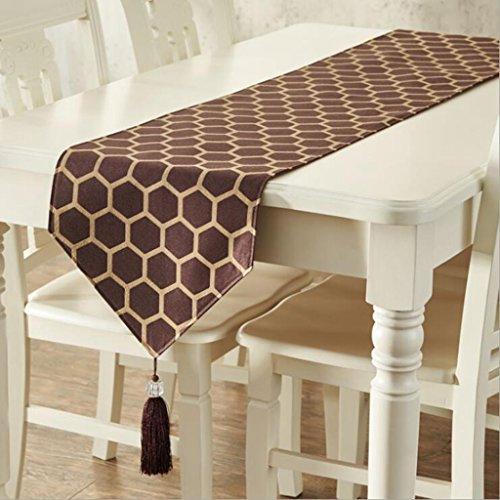 Miaoge Cinese table flag europea lusso geometria modello tovaglia table flag stoffa 35*228cm