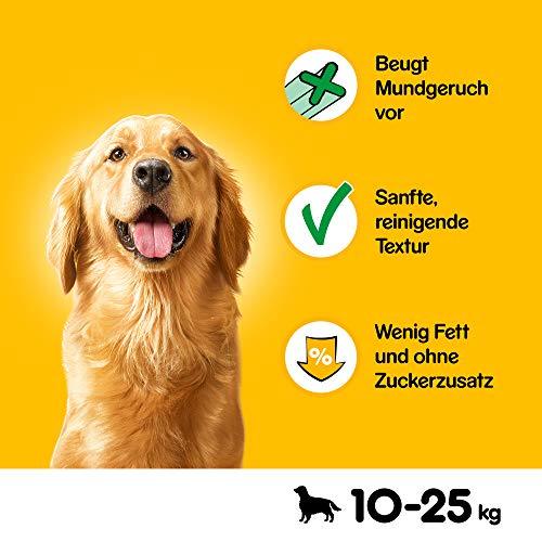 Pedigree DentaStix Fresh Hundesnack für mittelgroße Hunde (10-25kg), Zahnpflege-Snack mit Eukalyptusöl und Grüner Tee-Extrakt, 4 Packungen je 28 Stück (4 x 720 g) - 3