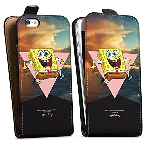Apple iPhone X Silikon Hülle Case Schutzhülle Spongebob Merchandise Fanartikel Spongebob Schwammkopf Downflip Tasche schwarz