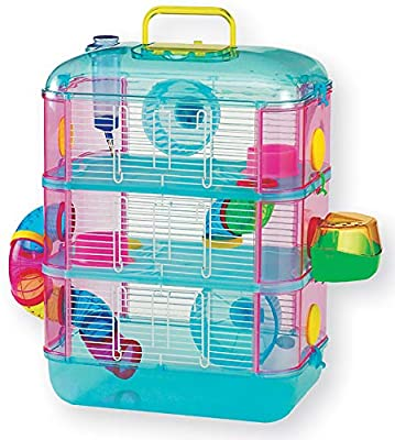 Hamster Cage, Three Storey, With Tubes, Lazy Bones. (Blue) by Lazy Bones