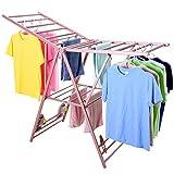 Aufhänger Wäscheständer Boden Faltflügel Typ Startseite Balkon Boden Wäscheständer Baby Cool Trocknen Quilt Rack (Color : Pink, Size : S)