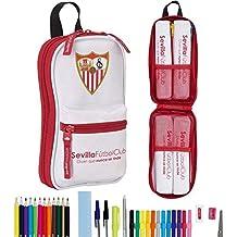 F.C. Sevilla 411756747 - Neceser con 4 estuches y útiles, 120 x 50 x 230
