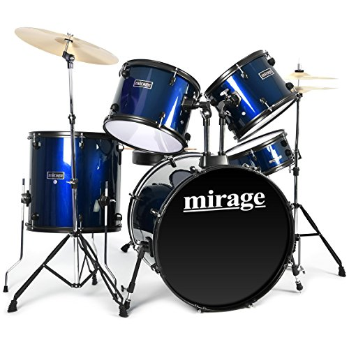 mirage-5-piece-beginners-drum-kit-full-size-with-stool-and-sticks-blue