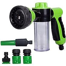Lanktoo Tubo da giardino con ugello spray a mano, resistente ad alta pressione e pistola ad acqua, 8 motivi a mano regolabile per irrigazione piante &-lavaggio auto, a forma di cane