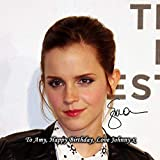 Emma Watson - Harry Potter 1 Personalised Gift Print Mouse Mat Autograph Computer Rest Mouse Mat Compatible with Laser and Optical Mice (with Personalised Message)