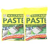 (Pack of 2, Yellow) - 2 x Wallpaper Paste, 12 Pint Pack, New Super Strong Formula