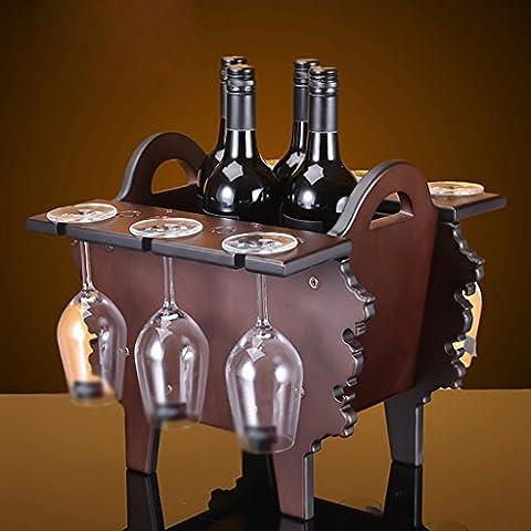 Piccolo semplice di legno del vino armadietto del vino scaffale ornamenti moda Arredamento