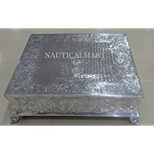 Nauticalmart Silver Finish Beautiful Large Size Stand for Cakes Stand for Wedding Cakes