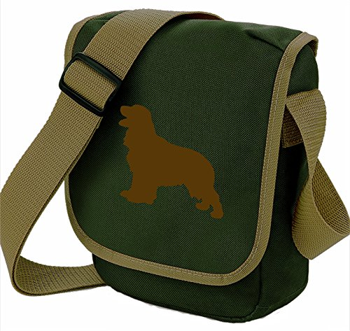 Bag Pixie - Borsa a tracolla unisex adulti Brown Dog Olive Bag