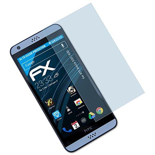 atFolix Schutzfolie kompatibel mit HTC Desire 530/630 Folie, ultraklare FX Bildschirmschutzfolie (3X)