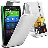 (Weiß) Nokia X Custom Designed Stilvolle Accessoires zur Auswahl Schutzmaßnahmen Kunst Credit / Debit-Karten-Leder Flip Case Hülle, Retractable Touch Screen Stylus Pen & LCD-Display Schutzfolie von Hülle Spyrox