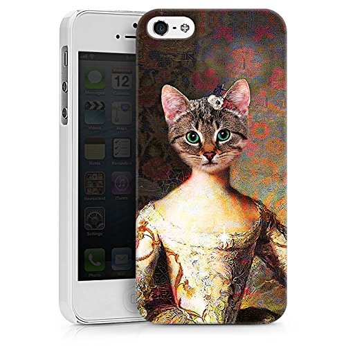 Apple iPhone 8 Plus Tasche Hülle Flip Case Katze Cat Kitty Hard Case weiß