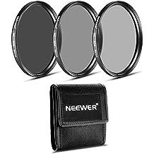 Neewer Kit de 52 MM filtro ND (ND2 ND4 ND8) para NIKON 18-55 mm f/3.5-5.6G ED AF-S DX, 55-200 mm f/4-5.6G ED IF AF-S DX VR, lente de CANON EF-M18 - 55 mm es STM, PENTAX 18-55 mm F3.5-5.6AL de lente
