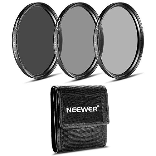 Galleria fotografica Neewer® 52mm Set di Filtri a Densità Neutra per Fotografia (ND2 ND4 ND8) + Stoffa di Pulizia per Obiettivi NIKON 18-55mm f/3.5-5.6G ED AF-S DX, 55-200mm f/4-5.6G ED IF AF-S DX VR, CANON EF-M18-55mm IS STM