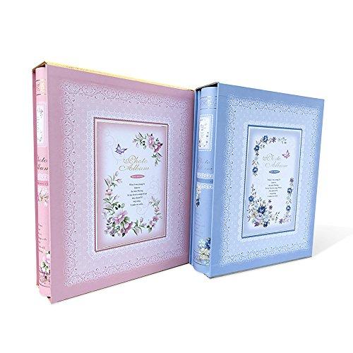 Zhi Jin Blume Fotoalbum SLIP IN Halt 200Taschen 15,2x 10,2cm Bild Geburtstag Jahrestag Alben mit Box Memory Book Geschenk Plum Blossom Green (Green Plum Blossom)