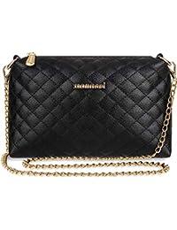 84560a8f03fb9 Monnari gesteppte Schultertasche Damen Handtasche mit Kettenriemen schwarz