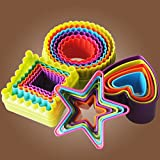 Generic Gingerbread Man : Multi-style plastic Circle Cookie Cutter, Fondant Cake Biscuit Cutter Mold Tools Set Decorating For Kitchen