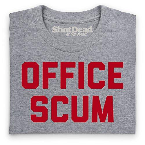 Office Scum T-Shirt, Herren Grau Meliert