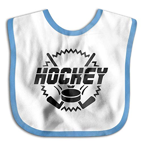 Hockey Funny Baby Bibs Burp Infant Drool Toddler Absorbent Bibs Hockey-baby-bib