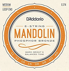 D'Addario EJ75 11.5-41 Medium/Heavy Mandolin Strings - Phosphor Bronze