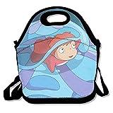 Ponyo Ponyo sulla Scogliera da viaggio, borsa per il pranzo, Black, taglia unica