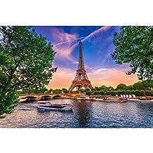 Fototapete NUIT D´OR 254x184 beleuchteter Eiffelturm Paris bei Nacht Frankreich