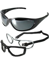 POLARLENS SERIES KP3-01 Lunettes de sport / Lunettes de velo cyclisme / Lunettes de Soleil / Pour porteurs de lunettes avec ANTI-Brouillard + sac en micro-fibre !