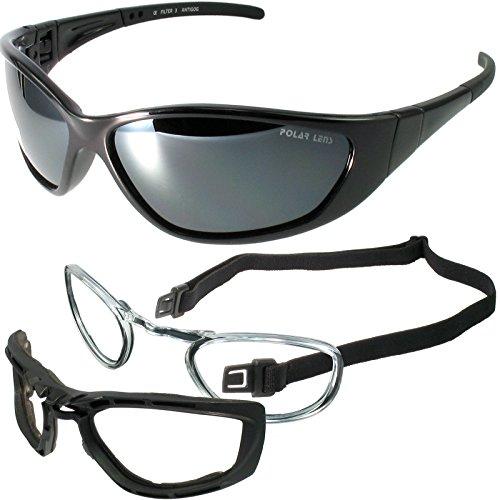 POLARLENS SERIES KP3-01 Sonnenbrille / Snowboardbrille / Skibrille mit SUPER-ANTI-FOG-Beschichtung und einer Microfasertasche