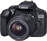 Canon EOS 1300D Digitale Spiegelreflexkamera (18 Megapixel, APS-C CMOS-Sensor, WLAN mit NFC, Full-HD) Kit inkl. Objektiv EF-S 18-55 mm f/3.5-5.6 is II - Schwarz.