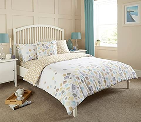 Complete Bedding Set Duvet Cover With Fitted Sheet & Pillowcases (Double, Faded)