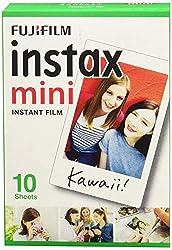 Fujifilm Instax Mini Instant Film, 1x 10 Blatt (10 Blatt), Weiß