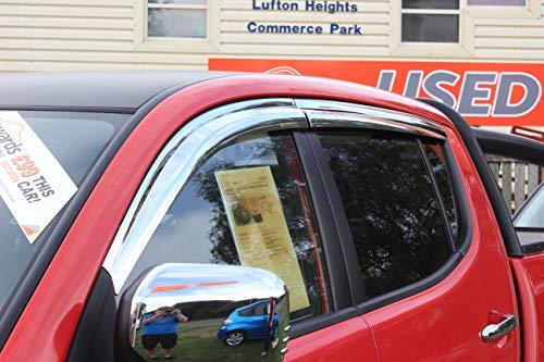 Für Mitsubishi L2002006+ Windabweiser Set-Double Cab (4Stück) (chrom)