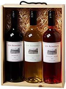 Los Romeros a Taste of Chile Wine Pack incl. 3 x bottles 2012 75 cl (Case of 3)