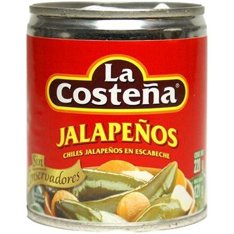 La Costena - Scatola di peperoncini Jalapenos interi, 220 g