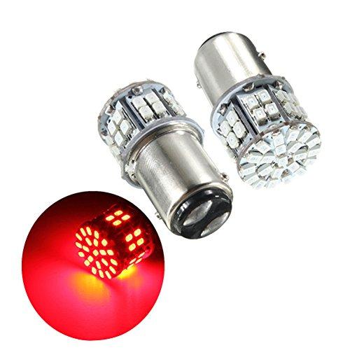 Zantec 2pcs Super Helle BAY15D 1157 50SMD 1206 LED Auto Bremslicht, DC 12 V 50 LEDs Auto Rückleuchten, rot Blinker Lampen